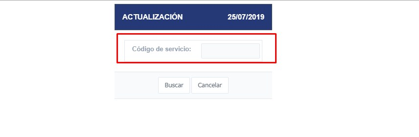 Actualización código de servicio