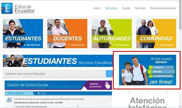 Ahora puedo revisar en Educar Ecuador
