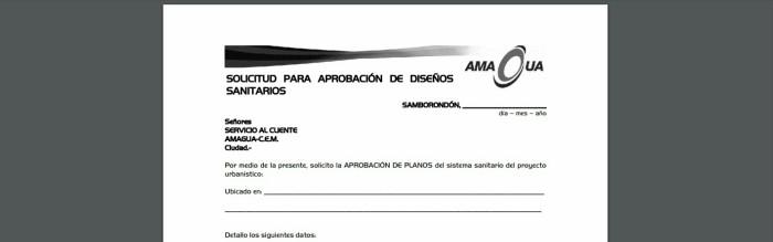Aprobación de diseños sanitarios - servicios de Amagua