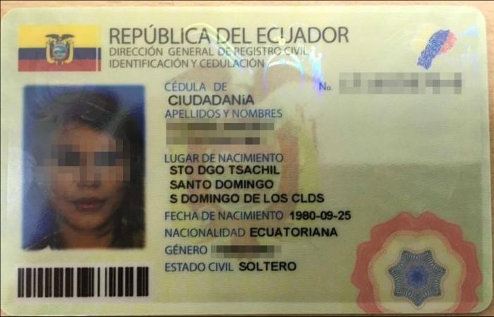 Cédula de identidad