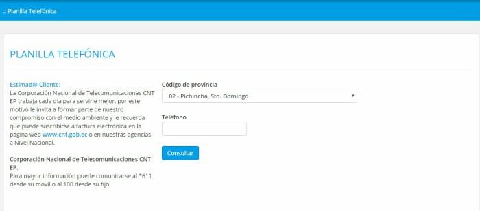 CNT por internet