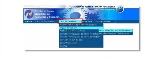 Ejecución de gastos eSIGEF