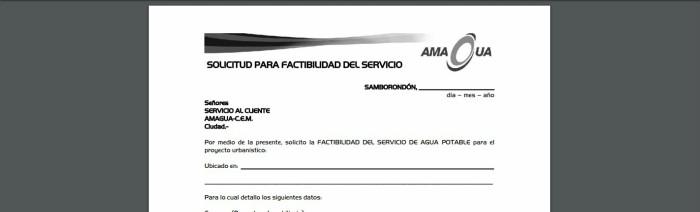 Factibilidad del servicio - servicios de Amagua