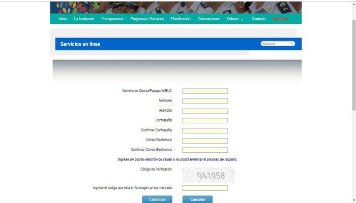 Formulario de registro CTE