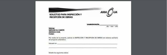 Inspección y recepción de obras - servicios de Amagua