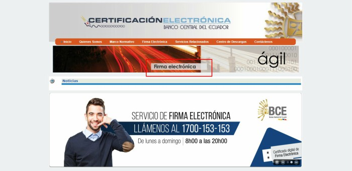 bce firma electrónica