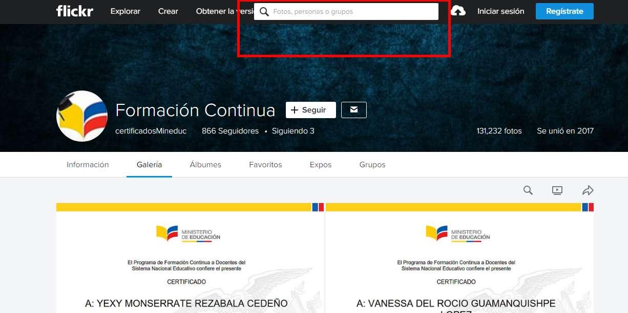 buscar certificados en flickr