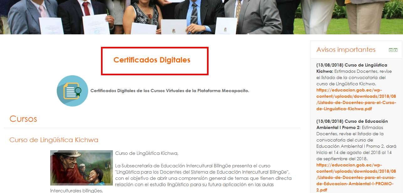 certificados digitales cursos