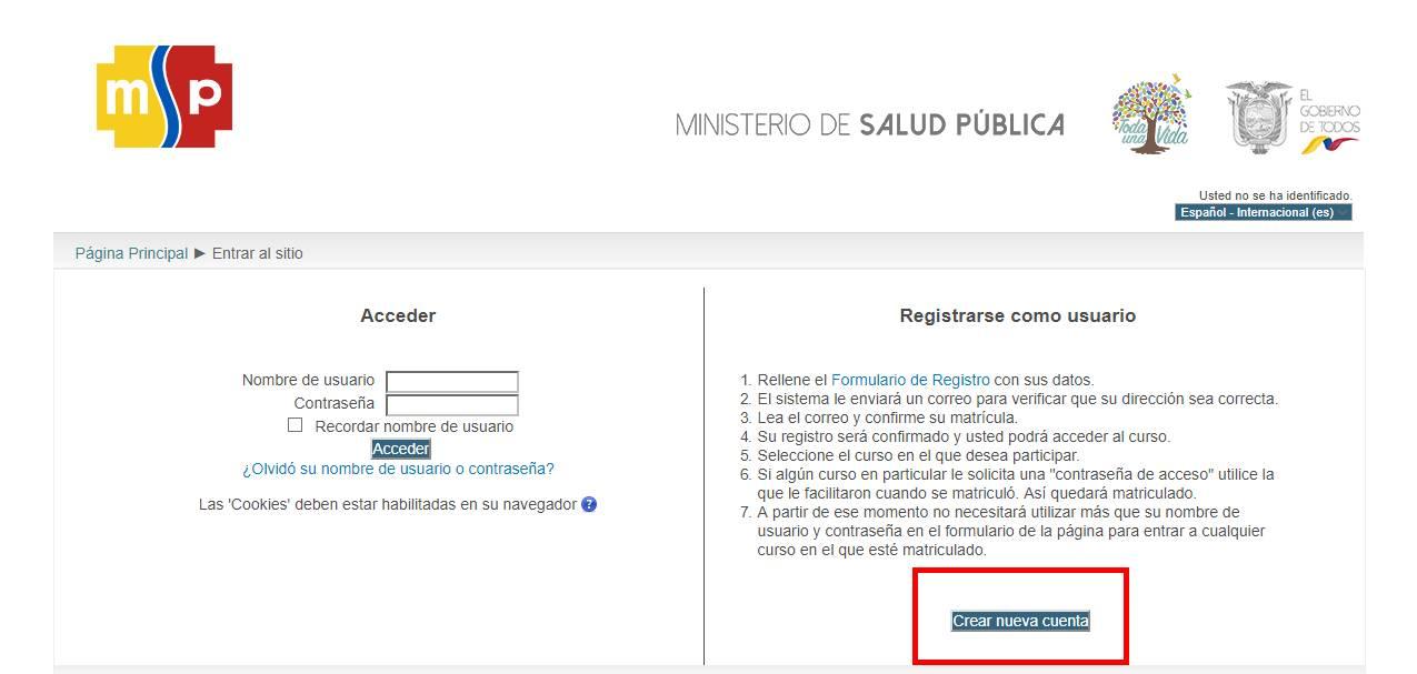 crear cuenta MSP