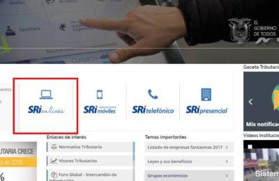 declaracion de impuestos SRI