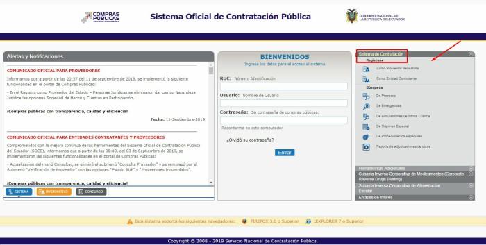 registro en SNCP