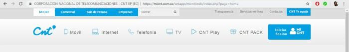 vía en línea para el duplicado de factura CNT